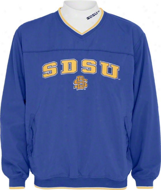 South Dakota State Jackrabbits Windshirt/long Sleeve Mocknneck Combo Pack