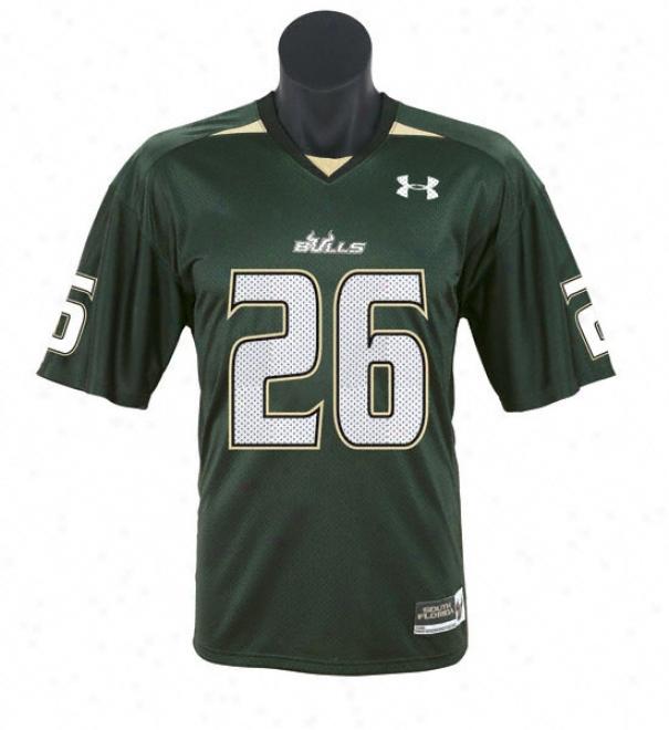 South Florida Bulls -no. 26- Green Inferior to Armour Performance Repilca Football Jersey