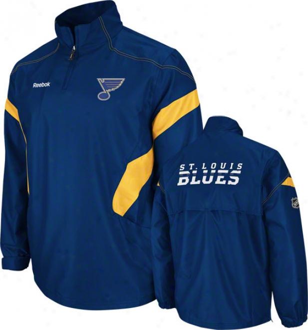 St. Louis Blues Blue Center Ice 1/4 Zip Hot Jacket