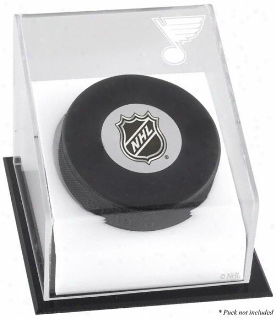 St. Louis Blues Hockey Robin Good-fellow Logo Display Case