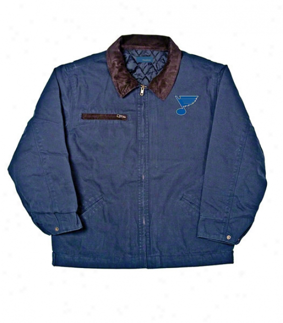 St. Louis Blues Jacket: Blue Reebok Tradesman Jacket