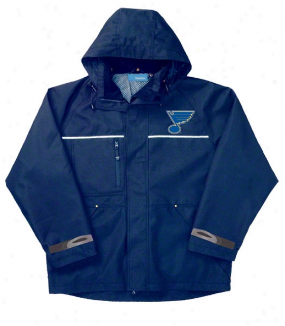St. Louis Blues Jacket: Blue Reebok Yukon Jacket