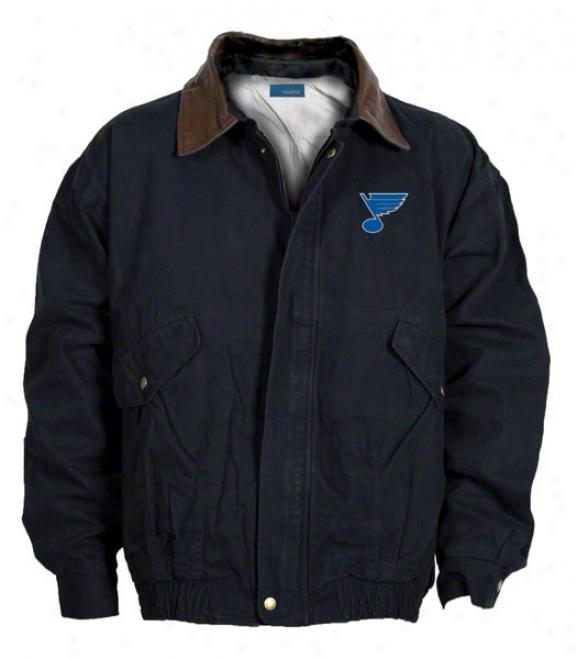 St. Louis Blues Jacket: Navy Reebok Navigator Jacket