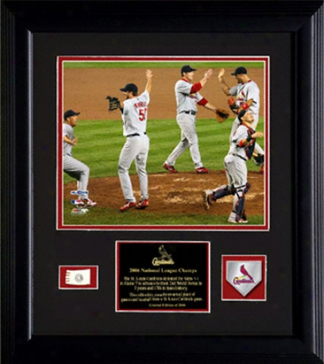St. Louis Cardinals 2006 National League Champions 8x10 Framed Photo With Tea Medallion