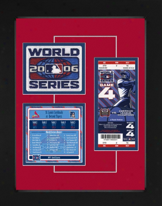 St. Louis Cardinals 2006 World Series Replica Ticket & Patch Frame