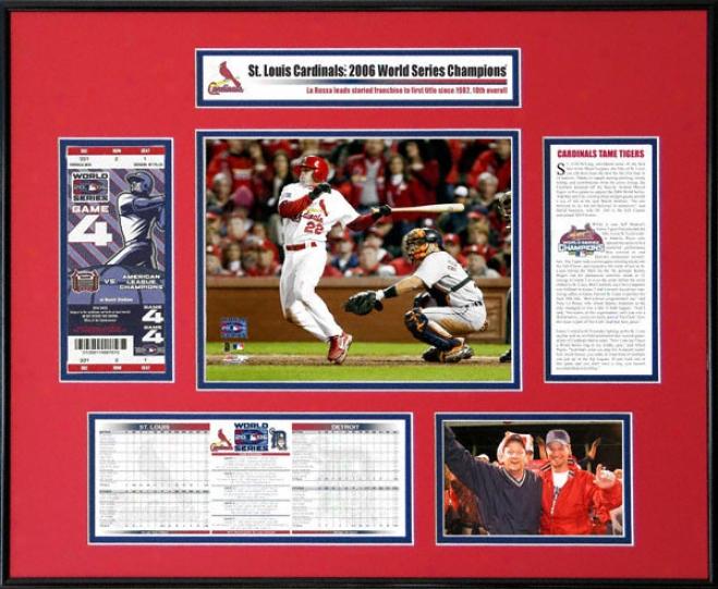 St. Louis Cardinals - 2006W orld Series Ticket Frame - David Eckstein
