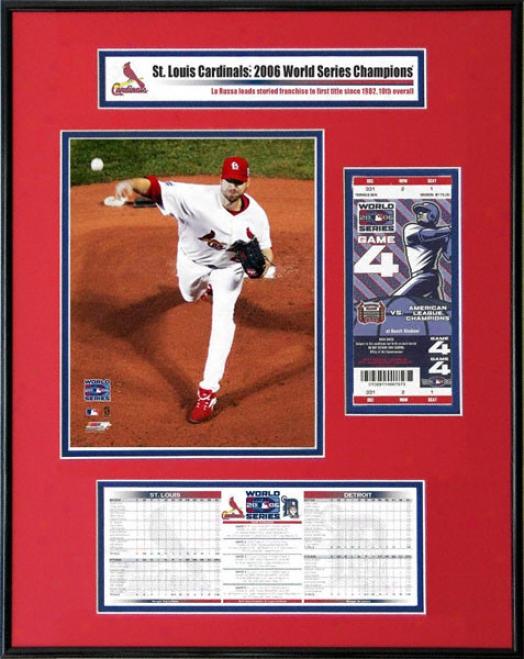 St. Louis Cardinals - 2006 World Series Ticket Frame Jr. - Chris Carpenter