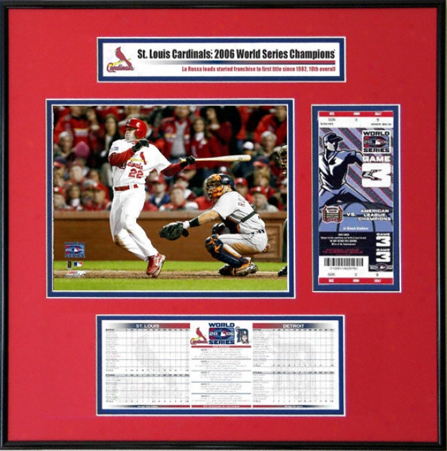 St. Louis Cardinals - 2006 World Series Ticket Frame Jr. - David Eckstein