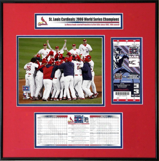 St. Louis Cardinals - 2006 World Series Ticmet Frame Jr. - Team Celebration