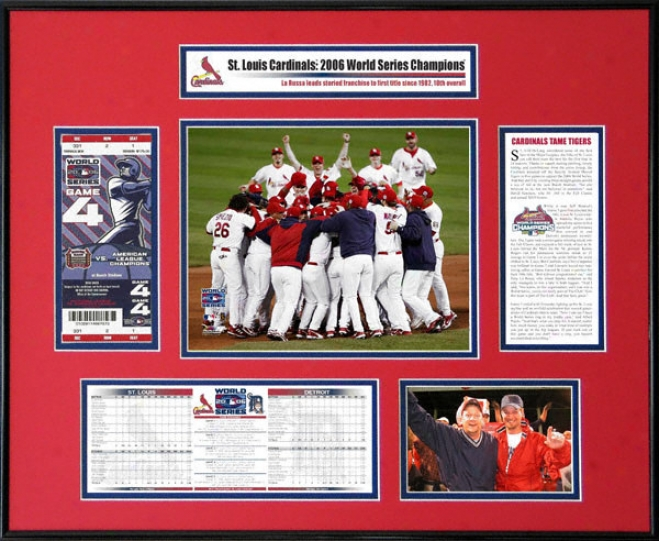 St. Louis Cardinals - 2006 World Series Ticket Frame - Team Celebration