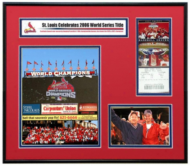 St. Lpuis Cardinals 2007 Opening Day Ticket Frame