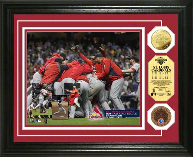 St. Louis Cardinals 2011 National League Champions Infield Di5t Con Phkto Mint