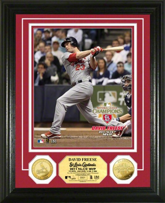 St. Louis Cardinals 2011 National League Champions Mvp 24kt Gold Coin Photo Mint