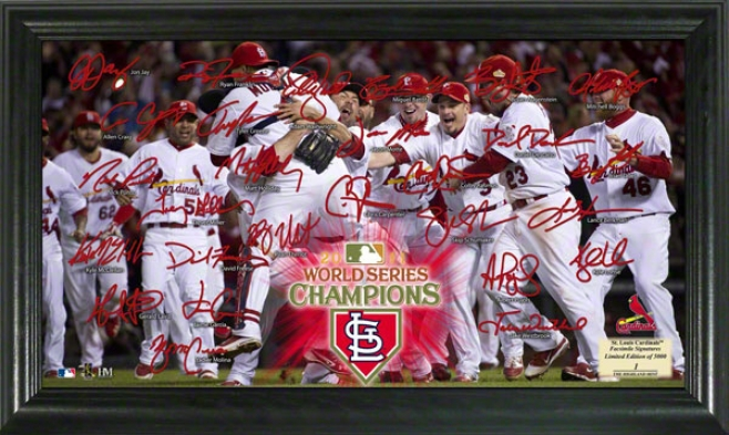 St. Louis Cardinals 2011 World Series Champions Honor Signature Field