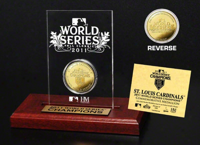St. Louis Cardinals 2011 World Series Champions Desk Rise above Acrylic