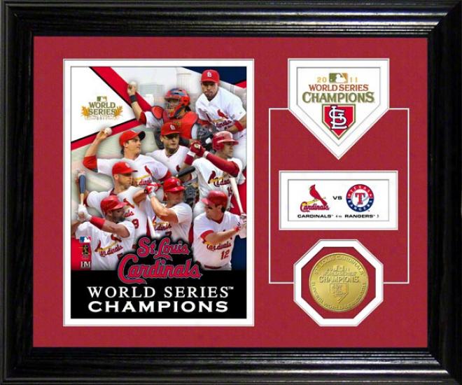 St. Louis Cardinals 2011 Universe Series Chhampions Desk Top Photo Mint