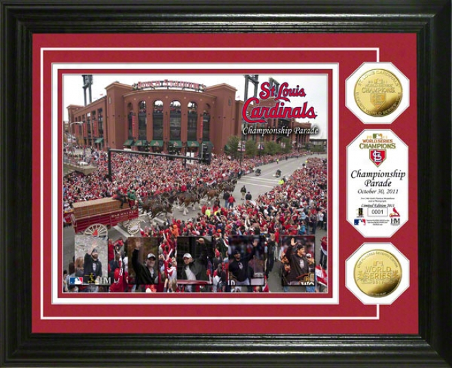 St. Louis Cardials 2011 World Series Champions Parade Photo Mint