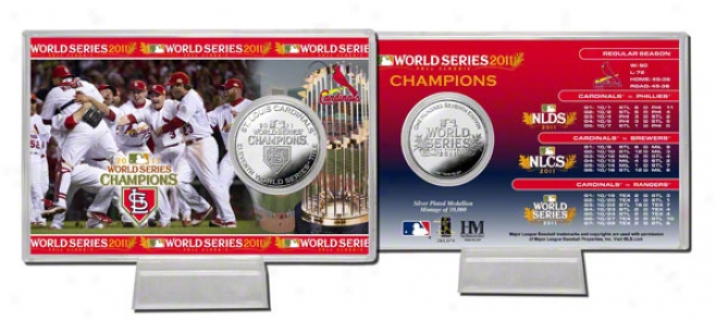 St. Louis Cardinals 2011 World Series Champions Silver Coin Card