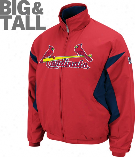 St. Louis Cardinals Big & High Authentic Collection Red Therma Base Tfiple Peak Premier Jerkin
