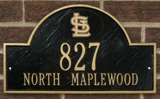 St. Louis Cardinals Black And Gold Personaliz3d Address Wall Plsque