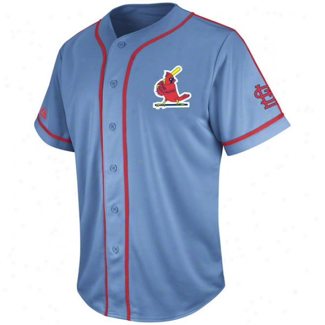 St. Louis Cardinals Coastal Bllue Cooperstown Tradition Jersey