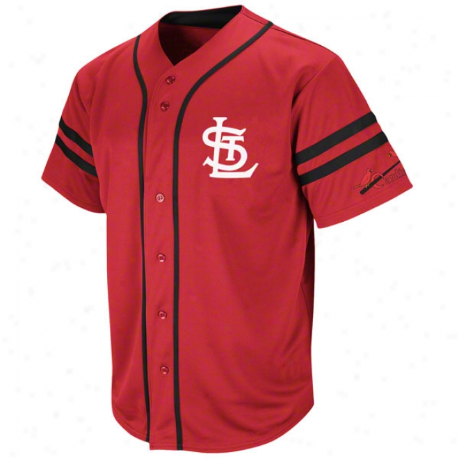 St. Louis Cardinals Cooperstown Red Heater Fashion Jerse