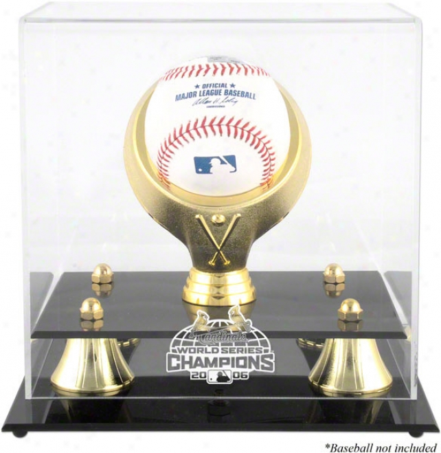 St. Louis Cardinals Golden Classic 2006 World Series Logo Baseball Display Case