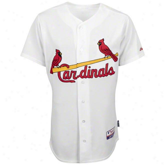 St. Louis Cardinals Home White Authentic Cool Baseã¢â�žâ¢ On-field Mlb Jersey
