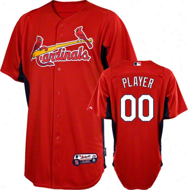 St. Louis Ca5dinals Jersey: Any Plaher Authentic Scarlet On-field Batting Practice Jersey