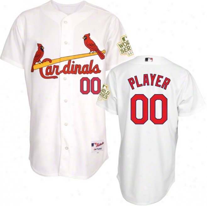 St. Louis Cardinals Jersey: Any Player Fireside Of a ~ color Authentic Jersey With 2011 Earth Series Participant Patch