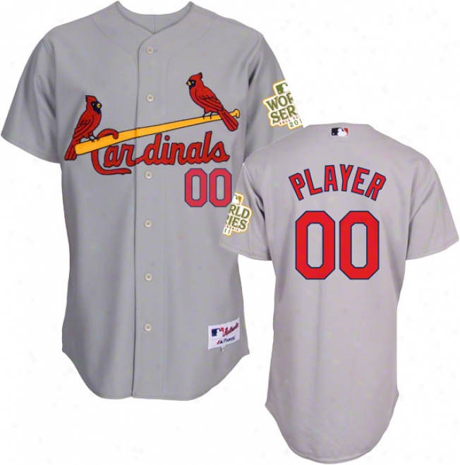 St. Louis Cardinals Jersey: Any Player Road Grey Authentic Jersey With 2011 World Succession Participant Patch