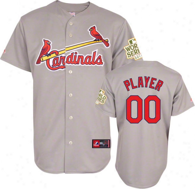 St. Louis Cardinals Jersey: Any Player Road Grey Replica Jersey With 2011 World Series Participant Patch