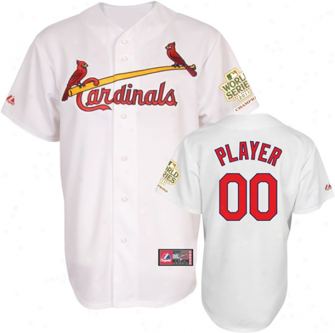 St. Louis Cardinals Jersey: Big & Tall Any Player Home White Replica Jersey With 2011 World Series Champions Patch