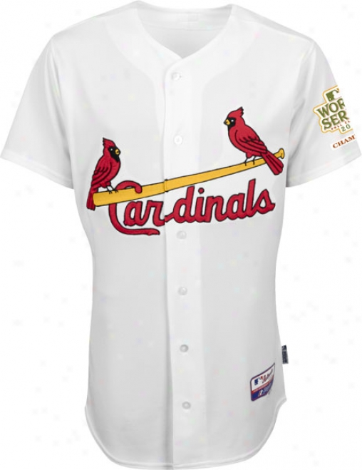 St. Louis Cardinals Jersey: Big & Tall Homee White Authentic Cool Baseã¢â�žâ¢ Jersey With 2011 World Series Champions Patch