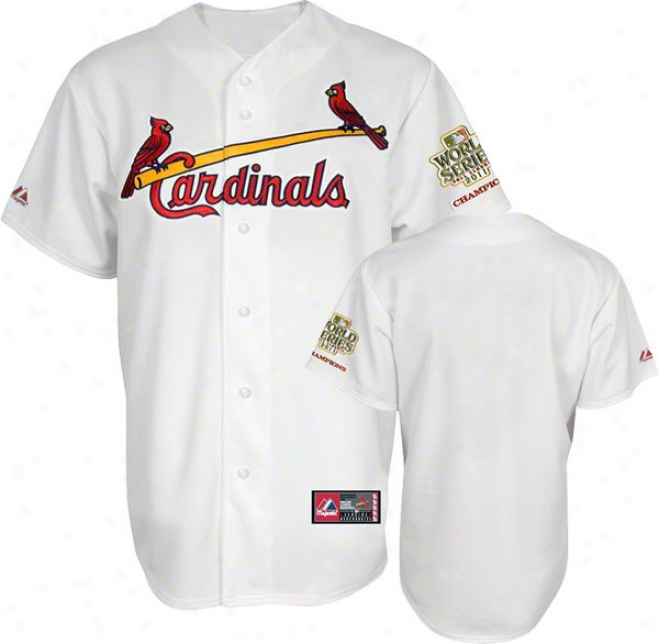 St. Louis Cardinals Jersey: Home White Replica Jersey With 2011 World Series Champions Patch