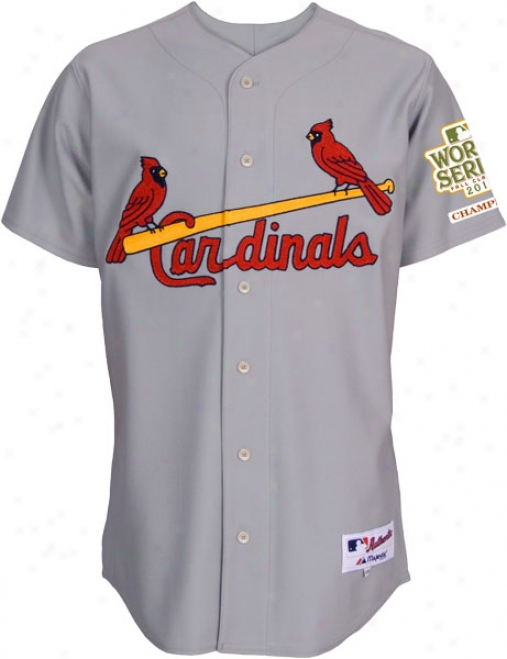 St. Louis Cardinals Jersey: Roadstead Grey Authentic Jersey With 2011 World Succession Champions Tract
