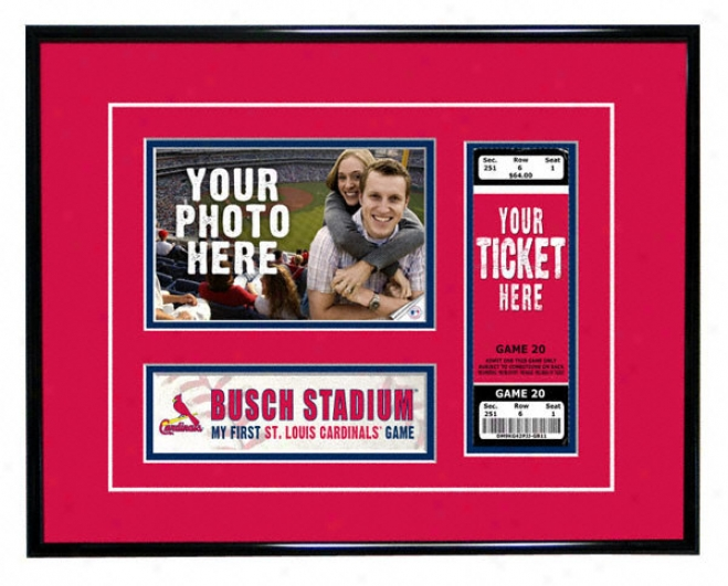 St. Louis Cardinals - My First Game - Ticket Frame