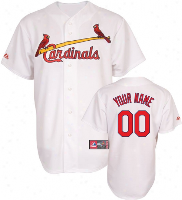 St. Louis Cardinals -epraonalized With Your Name- Home Mlb Replica Jersey