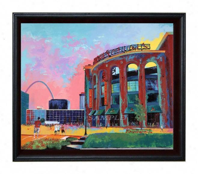 St. Louis Cardinals - &quotbusch Stadium&quot - Oversized - Framed Giclee