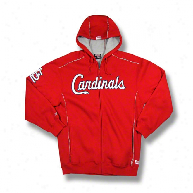 St. Louis Cardinals Red Grand Slam Full-zip Sherpa Luned Thermal Hooded Jacket