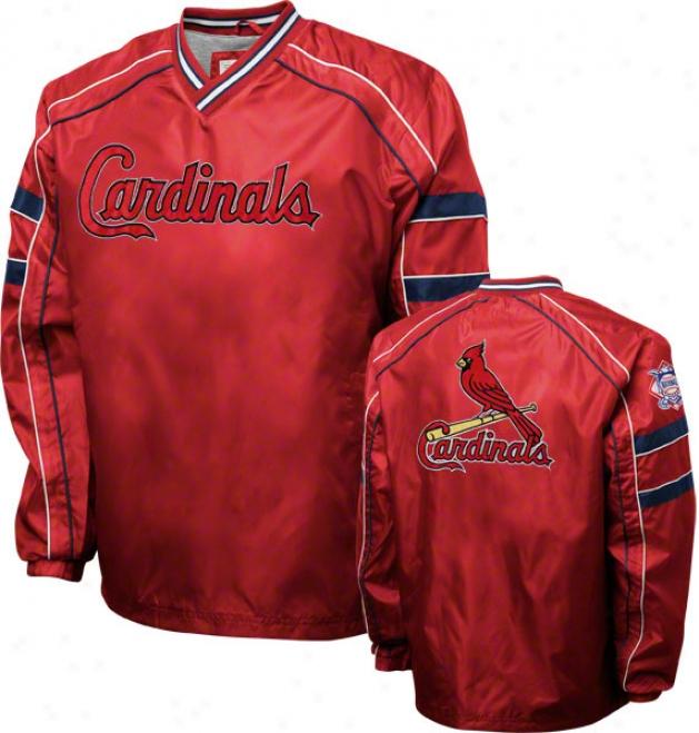 St. Louis Cardinals Red V-neck Pullover Jacket