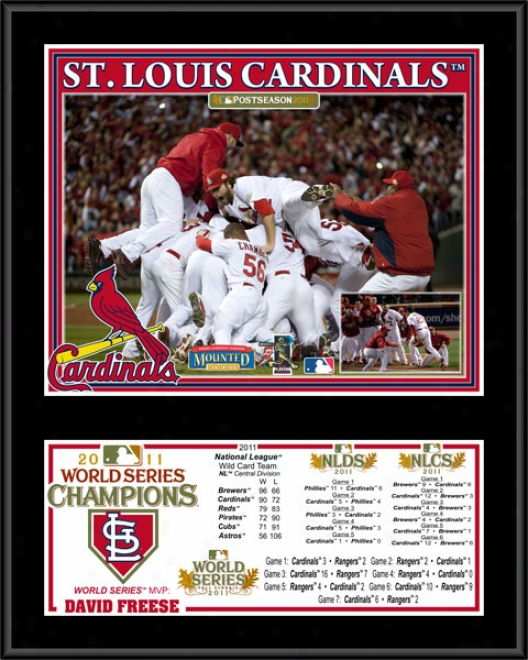 St. Louis Cardinals Su6limated 12x15 Plqque  Details: 2011 World Succession Champions