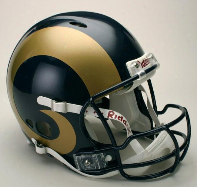 St. Louis Rams Authentic Pro Line Revolution Riddell Full Size Helmet