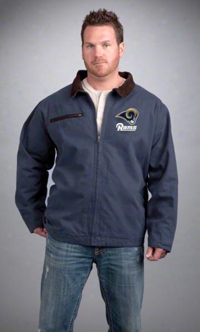 St. Louis Rams Jerkin: Navy Reebok Tradesman Jacket