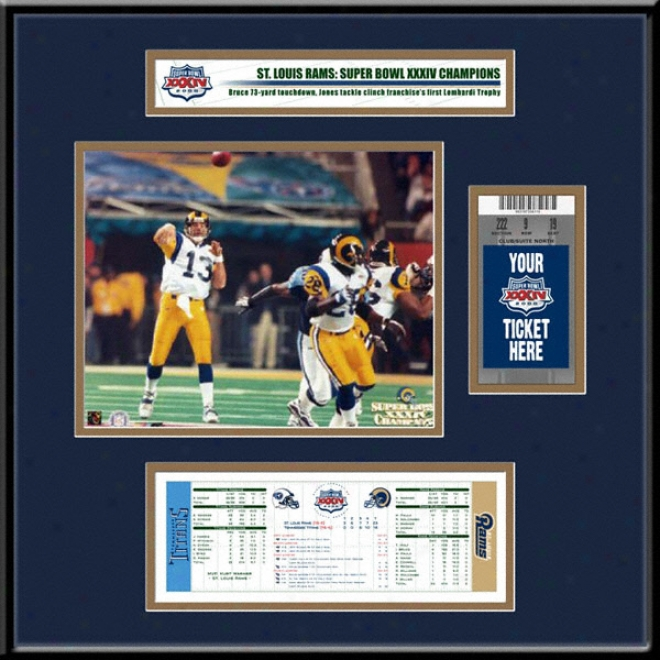 St. Louis Rams Super Bowl Xxxiv Champions Ticket Frame Jr.
