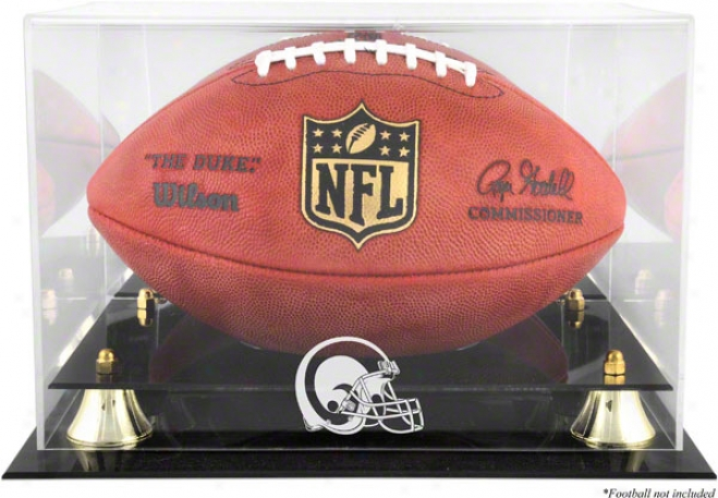 St. Louis Rams Throwback Golden Classic Football Logo Display Case And Mirror Move