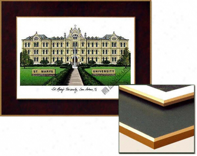 St. Mary's University Rattlers Collegiate Laminated Lithograph