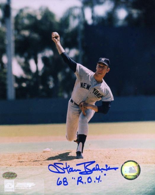 Stan Bahnsen New York Yankees Autographed 8x10 Photograph
