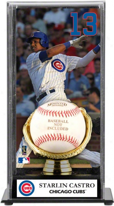 Starlin Castro Gold Glove Baseball Display Case  Details: Chicago Cubs