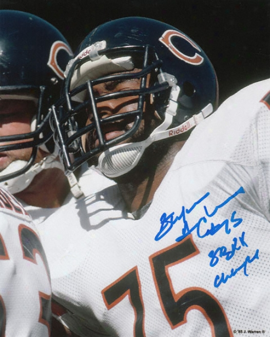Stefan Humphries Chicago Bearw Autographed 8x10 Photograph With Sb Xx Champs Inscription